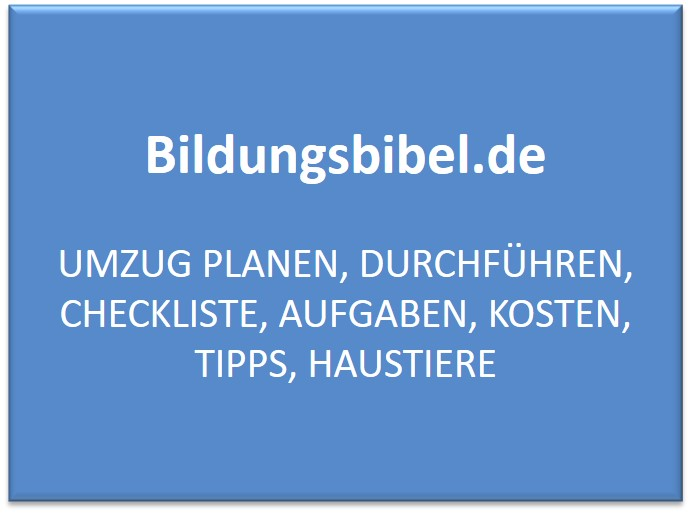Umzug planen, durchführen, Checkliste, Aufgaben, Kosten, Tipps, Haustiere