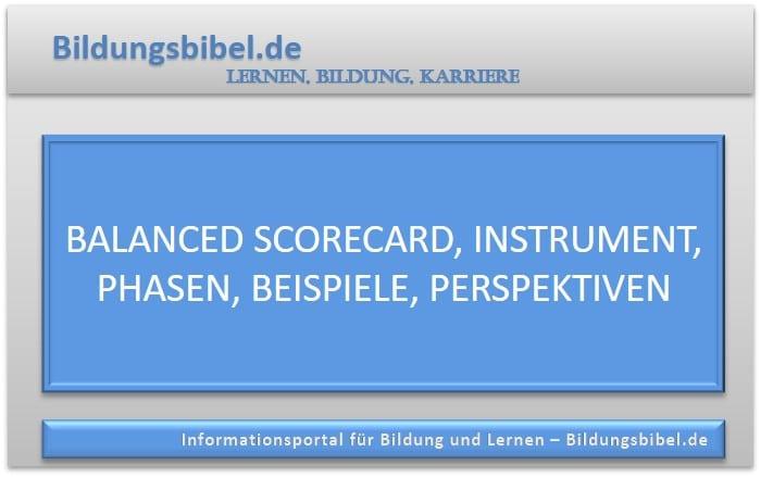 Balanced Scorecard, Instrument, Phasen, Beispiele, Perspektiven