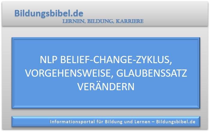 NLP Belief-Change-Zyklus, Vorgehensweise, Glaubenssatz verändern