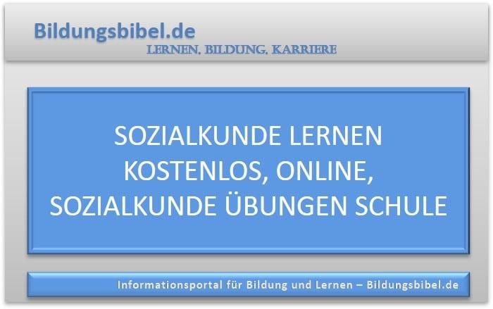 Sozialkunde lernen kostenlos, online, Sozialkunde Übungen Schule