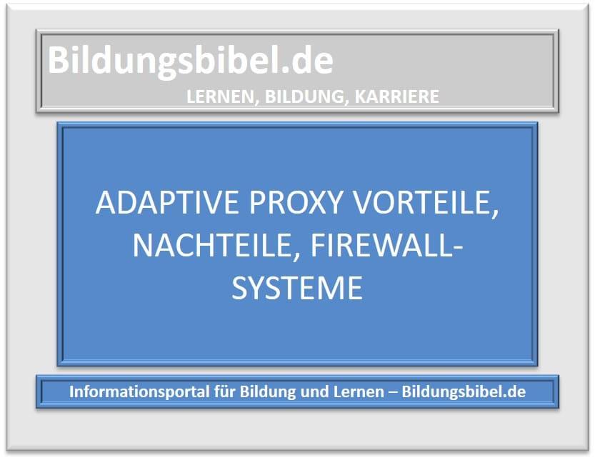 Adaptive Proxy Vorteile, Nachteile, Firewall-Systeme