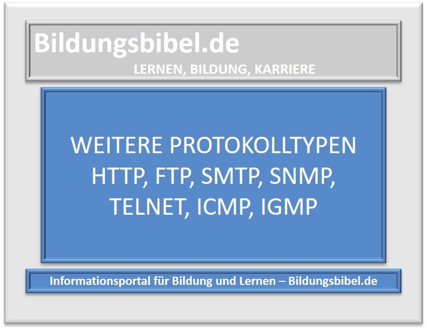 Weitere Protokolltypen HTTP, FTP, SMTP, SNMP, Telnet, ICMP, IGMP
