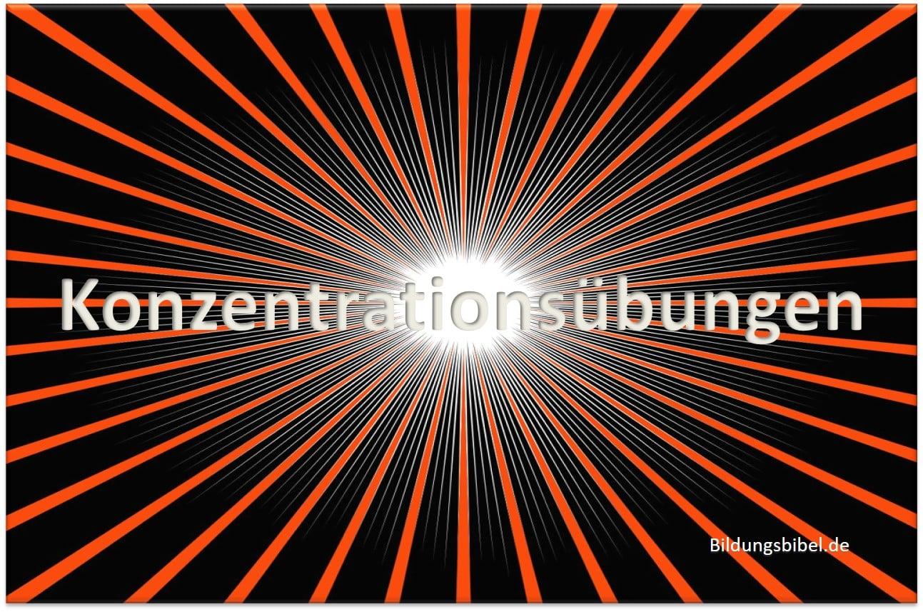 Konzentrationsübungen, Konzentration stärken mit Konzentrationstraining kostenlos für die Schule, Kinder oder Erwachsene zum Download