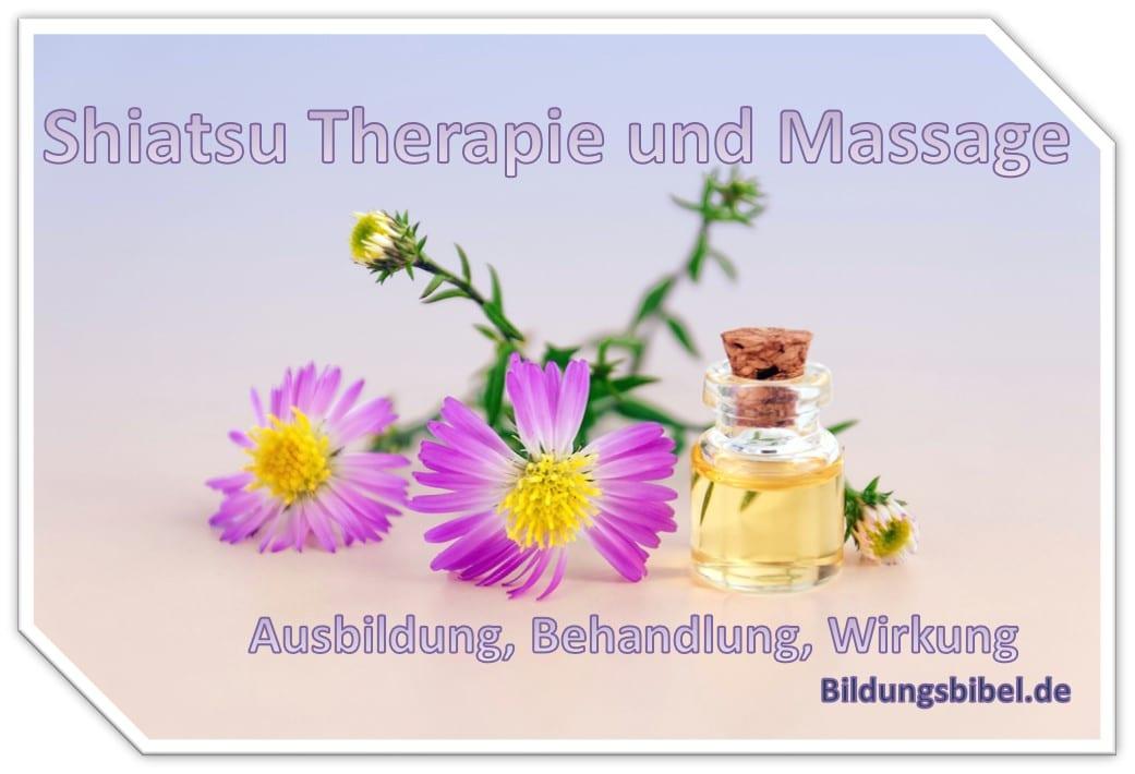 Die Shiatsu Therapie und Massage, Info zu Ausbildung, Behandlung sowie der Wirkung, auch zum Kiatsu