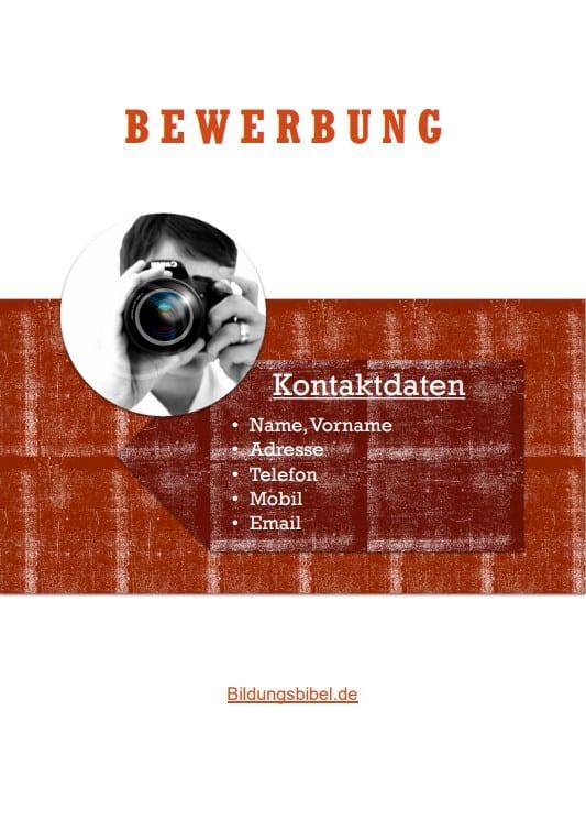 Bewerbung Deckblatt Muster bzw. Vorlage im Design Holzart kostenlos als Download