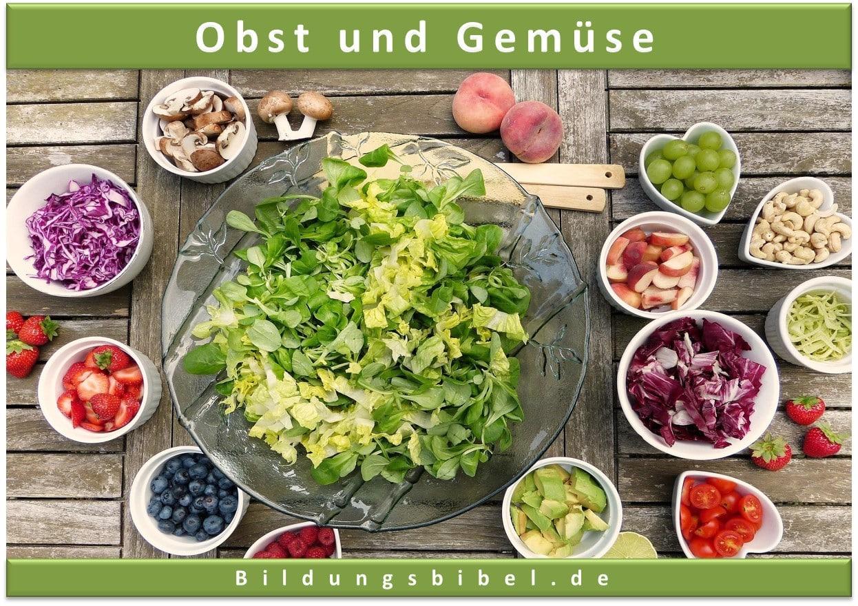 Obst und Gemüse: vitaminreich und gesunde Lebensmittel